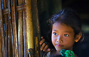 A Khamu girl in a village near Luang Prabang, Laos.