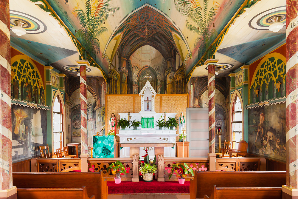 St. Benedict Roman Catholic Church (aka The Painted Church) was erected in 1899 on the Big Island and is quite a multicolored sight to see. Tastefully though?