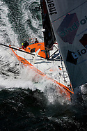10th August 2011. Cowes. Isle of Wight..Pictures of PRB, skippered by Vincent Riou, during The Artemis Challenge round the Island race...Aberdeen Asset Management Cowes Week 2011...Credit: Lloyd Images.