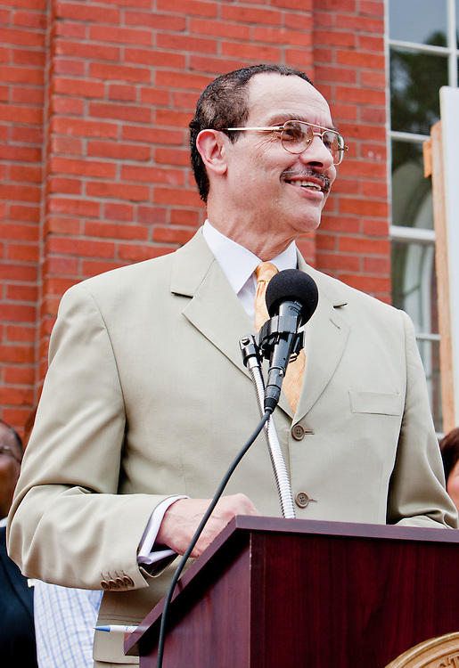 D.C. Council Chairman Vincent Gray at the re-opening of Eastern Market