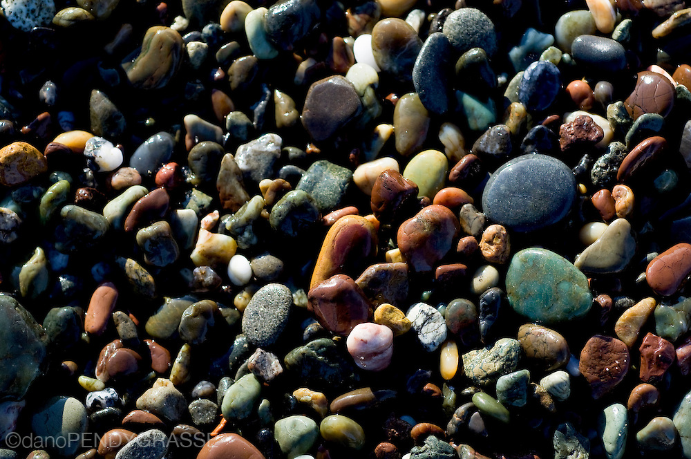 San Simeon State park in California is known for the semi precious stones that litter the Pacific coast beaches. Beachcombers regularly find jade and agate washed in by the tides.