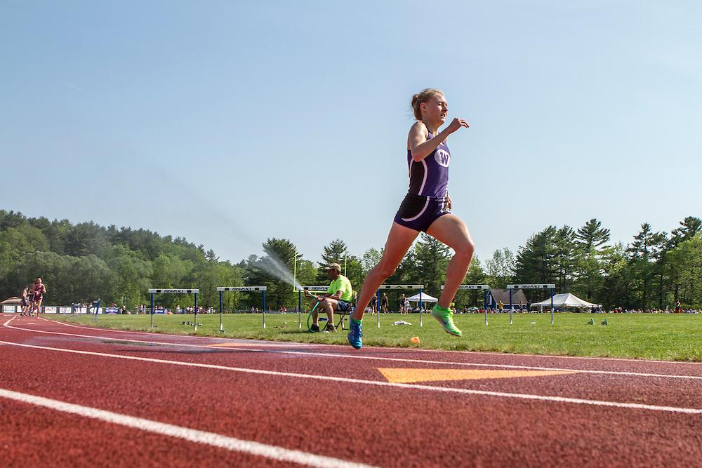 Bethanie Brown, Waterville, senior, girls 3200 meters; Maine State Track & Field Meet - Class B