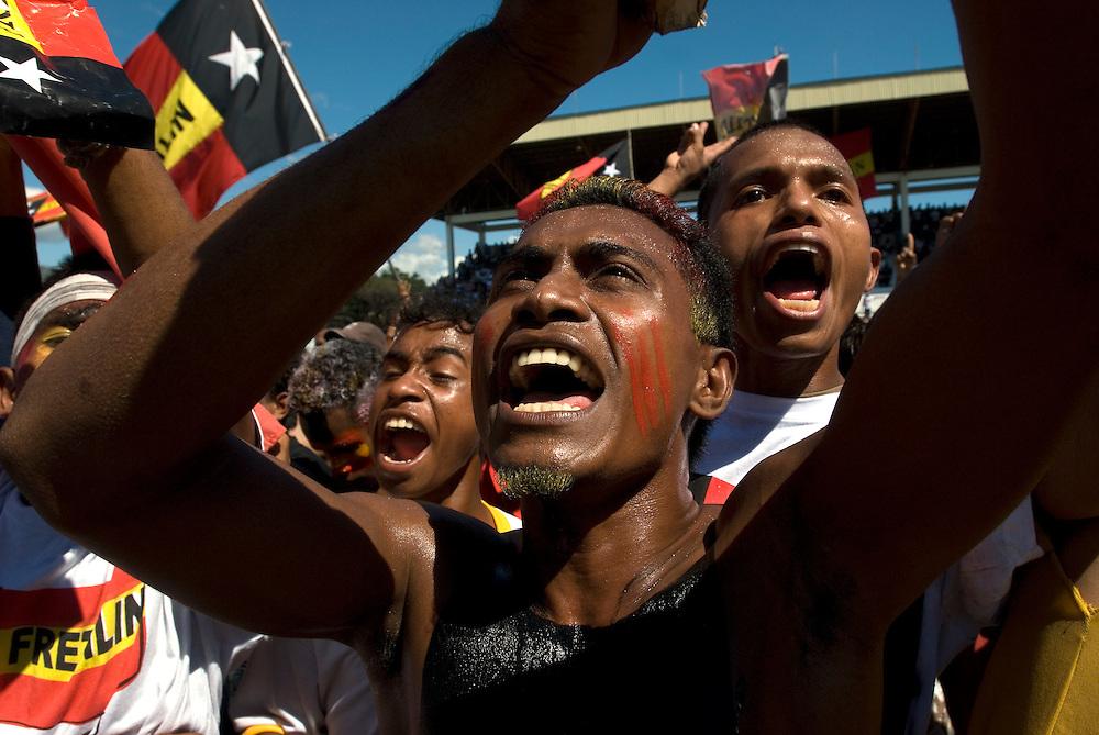 Fretilin Party Rally at Dili's Stadium 27/06/07