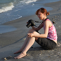 Photographer Checking Out Shells on the Beach at Fort DeSoto Park in Florida. Image taken with a Nikon D3x and 70-300 mm VR lens (ISO 140, 155 mm, f/11, 1/250 sec).