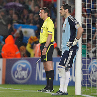 Real Madrid's Iker Casillas dejected during UEFA Champions League match.May 3,2011.