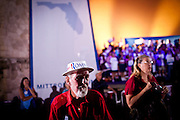 A Romney/Ryan supporter at a campaign rally in Daytona Beach, Florida, October 19, 2012.