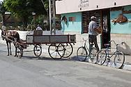 Horse and wagon delivering fish  in Niquero, Granma, Cuba.