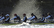 PUTNEY, LONDON, ENGLAND, 05.03.2006, Oxford vs USA crew   Pre 2006 Boat Race Fixtures,.   © Peter Spurrier/Intersport-images.com.OUBC, Bow Robin Esjmond-Frey, No.2 Colin Smith, No.3 Jake Wetzel, No.4 Paul Daniels, No.5 James Schroeder. No.6 Barney Williams, No. 7 Tom Parker, stroke Bastien Ripoll, and cox Nick Brodie,..[Mandatory Credit Peter Spurrier/ Intersport Images] Varsity Boat Race, Rowing Course: River Thames, Championship course, Putney to Mortlake 4.25 Miles Sunrise, Sunsets, Silhouettes