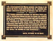 Plaque at the masonic lodge in Bauta, Artemisa, Cuba.