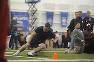 Mississippi football player Andy Hartman at Pro Day in the IPF in Oxford, Miss. on Tuesday, March 23, 2010.