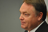 Ole Miss football coach Houston Nutt speaks at a news conference Monday Nov. 7, 2011 at the University of Mississippi in Oxford, Miss. Nutt will resign at the end of the season.