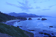Cannon beach viewed from Ecola Point, Ecola State Park, Seaside, Oregon, USA