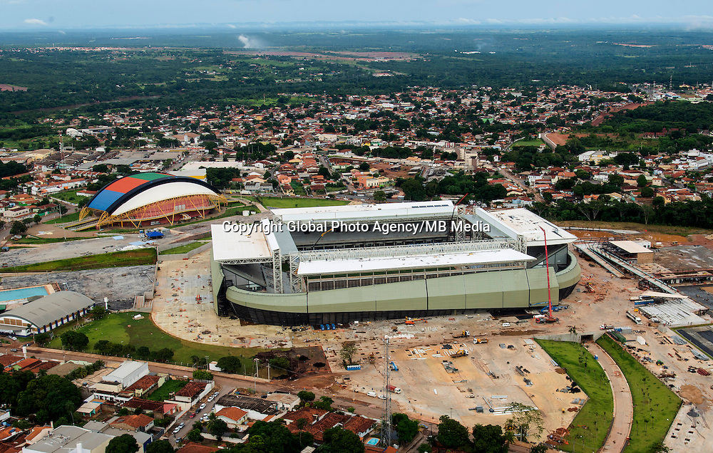 Football Fifa World Cup Brazil 2014<br /> Cuiaba - Mato Grosso - Brazil<br /> Pantanal Arena Stadium , Construction work of the stadium for the next Fifa World Cup Brazil 2014<br /> ( Images Take 16/03/2014 )