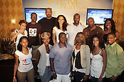 l to r: Gregory Allen Howard, Melanie Sharease, Jeff Friday, John Singleton and The Youth Filmmakers at The Master Class with John Singleton during the The 2009 American Black Film Festival held at The Ritz-Carlton in Miami Beach on June 27, 2009 ..