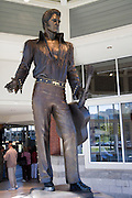 Memphis Tennessee TN, USA, Statue of Elvis Presley with a guitar at the welcome centre