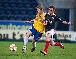 Cowdenbeath's Dean Brett and Falkirk's Thomas Grant ..Falkirk 2 v 0 Cowdenbeath, 15/12/2012..©Michael Schofield.