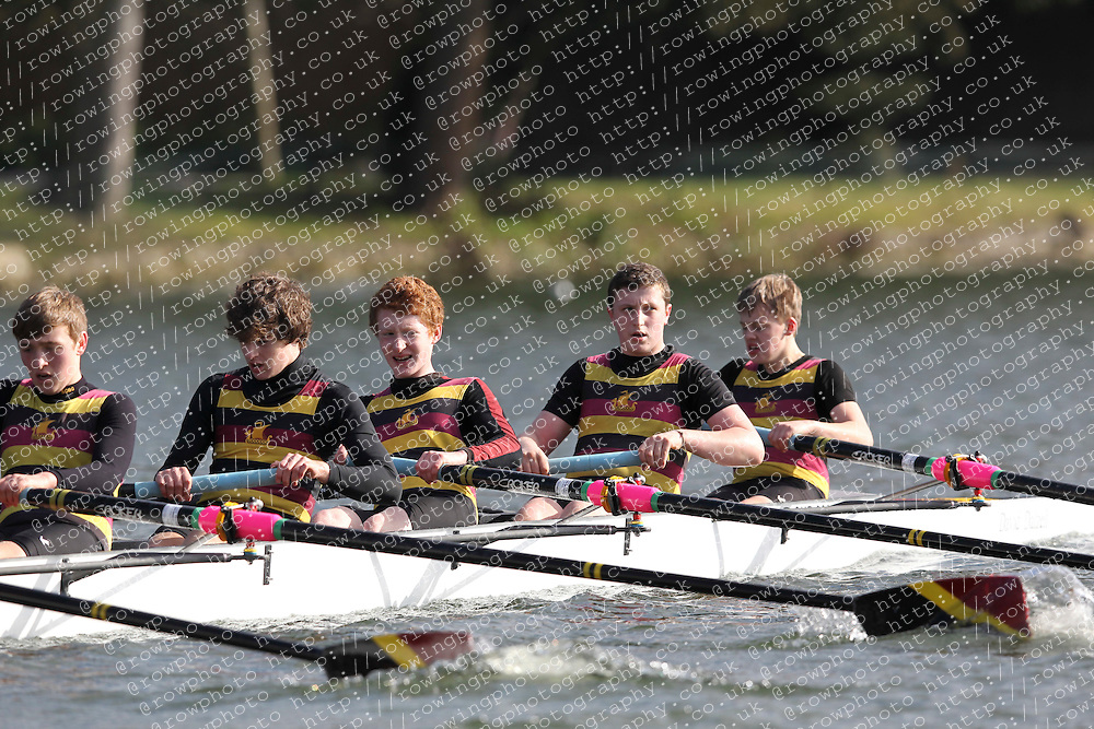 2012.02.25 Reading University Head 2012. The River Thames. Division 1. Shiplake College Boat Club A J15A 8+