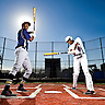 Josh Bell, Centerfielder, Jesuit College Prep, Dallas, Texas EDS NOTE: Josh Bell is a switch-hitter. This photo is a composite of two images taken within a few minutes of each other. OTHER VERSIONS AVAILABLE.