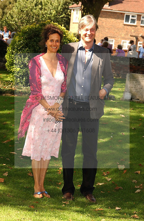 The MARQUESS &amp; MARCHIONESS OF WORCESTER she was actress Tracey Ward at the wedding of musician Jools Holland to Lady Crystabel Durham held at Cooling Village Church, Cooling, Kent on 30th August 2005.<br /><br />NON EXCLUSIVE - WORLD RIGHTS
