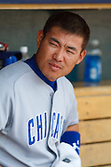 June 25, 2009: 1 Kosuke Fukudome of the Chicago Cubs during the MLB game between Chicago Cubs and Detroit Tigers at Comerica Park, Detroit, Michigan. Tigers defeated the Cubs 6-5.