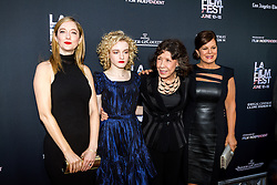 LOS ANGELES, CA - JUNE 10: Judy Greer, Julia Garner, Lily Tomlin and Marcia Gay Harden attends the opening night premiere of 'Grandma' during the 2015 Los Angeles Film Festival at Regal Cinemas L.A. Live on June 10, 2015. Byline, credit, TV usage, web usage or linkback must read SILVEXPHOTO.COM. Failure to byline correctly will incur double the agreed fee. Tel: +1 714 504 6870.