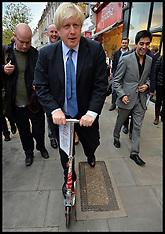 NOV 28 2013 Boris Johnson Campaigning in London
