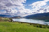 View of Kalamalka Lake from  Kekuli Bay Provincial Park on Kalamalka Lake near Vernon, British Columbia, Canada