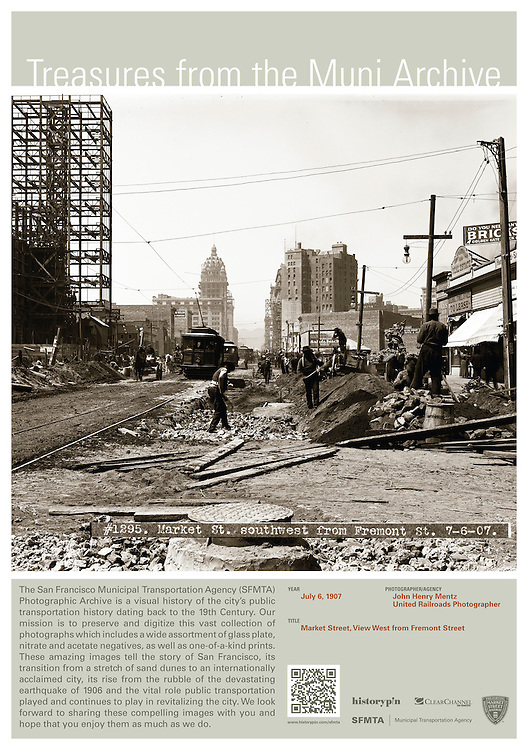 Market Street, Southwest from Fremont Street | July 6, 1907 | Treasures from the Muni Archive