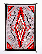 """0108-1040 ~ Copyright: George H. H. Huey ~ Navajo Indian Rug. Klagetoh style. 38"""" x 59"""".  Hubbell Trading Post National Historic Site. Arizona."""