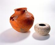 0107-1051 ~ Copyright: George H.H. Huey ~ Anasazi pottery from the North Rim of the Grand Canyon [Walhalla Plateau].  11th century. Grand Canyon National Park, Arizona.