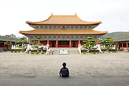 Relax and contemplate like at the quiet Confucius Temple in Kaohsiung, Taiwan.