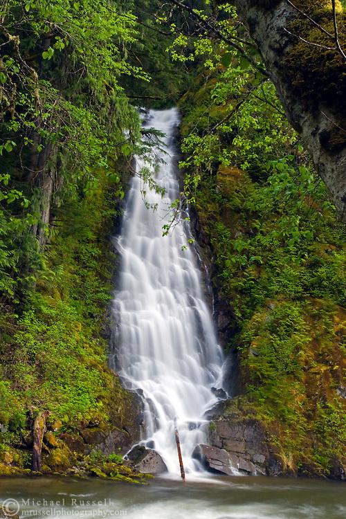 Eureka Falls flowing into Silverhope Creek near Hope, British Columbia.
