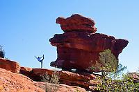 Minhee Cha at Balance Rock, Garden of the Gods, Colorado Springs, COLORADO