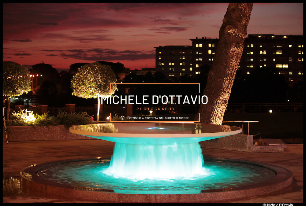 ROMA sede di RDS fontana e specchio d'acqua realizzato da Delta Group