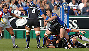 20,05/06 Powergen Cup Bath Rugby vs Bristol Rugby, Martyn Wood claers the ball from the back of the scrum. Bath, ENGLAND, 01.10.2005   © Peter Spurrier/Intersport Images - email images@intersport-images..