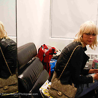 Dewi Driegen backstage at the Altuzarra show at Milk Studios during Mercedes-Benz fashion week 2009 on Sept. 12, 2009..Photo Credit ; Rahav Segev/Retna