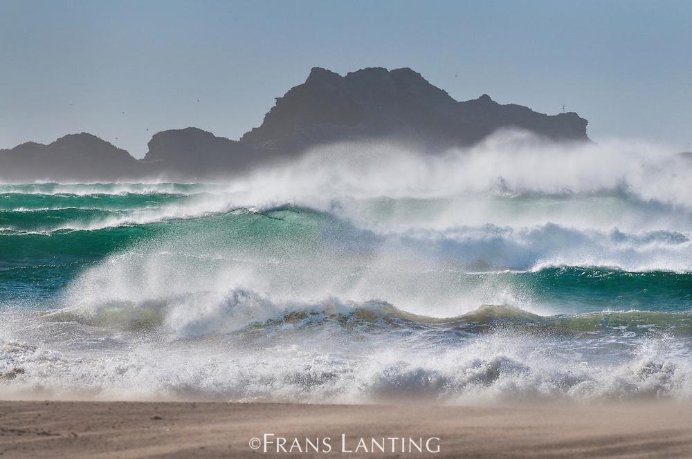 Storm surf, Spencer Bay, Namib-Naukluft National Park, Namibia