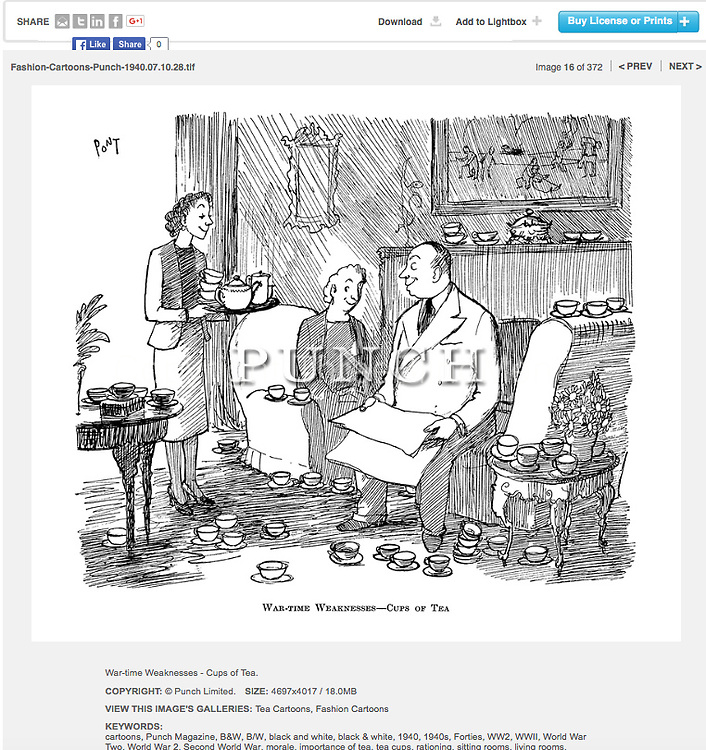 Cartoon from Punch Cost is approx GBP 73<br />