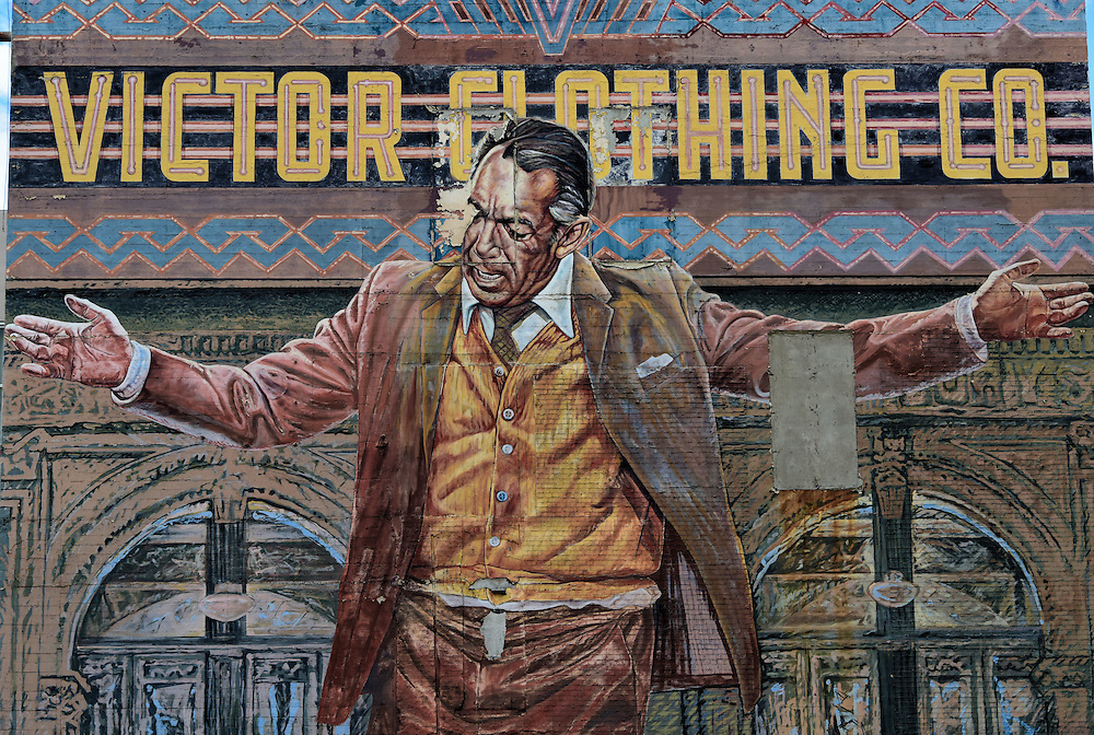 Victor clothing co mural by eloy torrez in los angeles for Anthony quinn mural