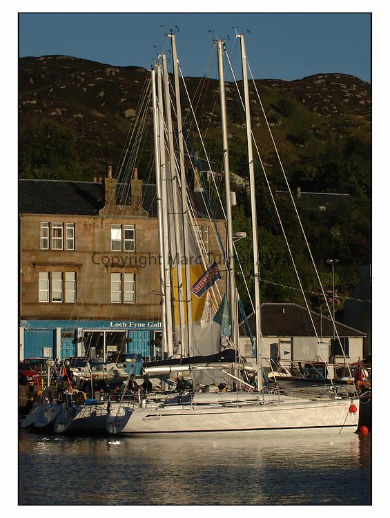 The Bell Lawrie Yachting Series in Tarbert Loch Fyne ..Shoreside in the fishing village of Tarbert Loch Fyne....