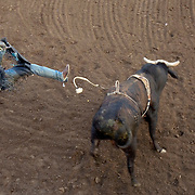 Jordan Hupp competes in the annual Cowboys for Kids PBR Extreme Bull Riding event in conjunction with Celebrity Team Roping at the Johnson County Sheriffs Posse arena in Cleburne, Texas, Saturday April 28, 2007.   The event was a fundraiser for the Johnson County Children's Advocacy Center.