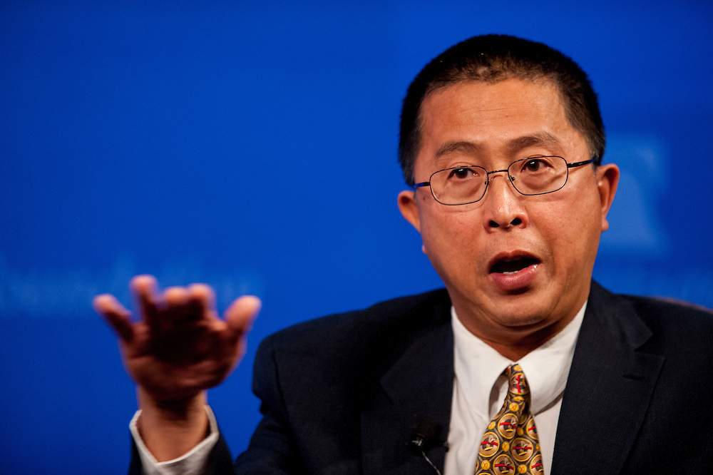 Harvard-Smithsonian Observatory astrophysicist Willie Soon speaks at the Heritage Foundation in Washington seeking to debunk consensus view on global warming.