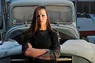 13/12/13 - RIOM - PUY DE DOME - FRANCE - Atelier de la carrosserie d Emilie PLANTIN, jeune femme de 21 ans qui a choisit de s epanouir dans un metier majoritairement masculin - Photo Jerome CHABANNE