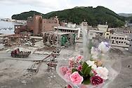Tsunami devastation in Onagawa, Tohoku region, Japan, on Friday 17th June 2011.Tsunami destruction, caused by the March 11th earthquake and tsunami in Onagawa, Tohoku region, Japan, on Friday 17th June 2011.