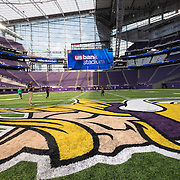 Media tour of U.S. Bank Stadium, the new home of the Vikings, in Minneapolis July 19, 2016.