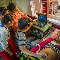 A clinic in rural Myanmar provides health care for expectant mothers.