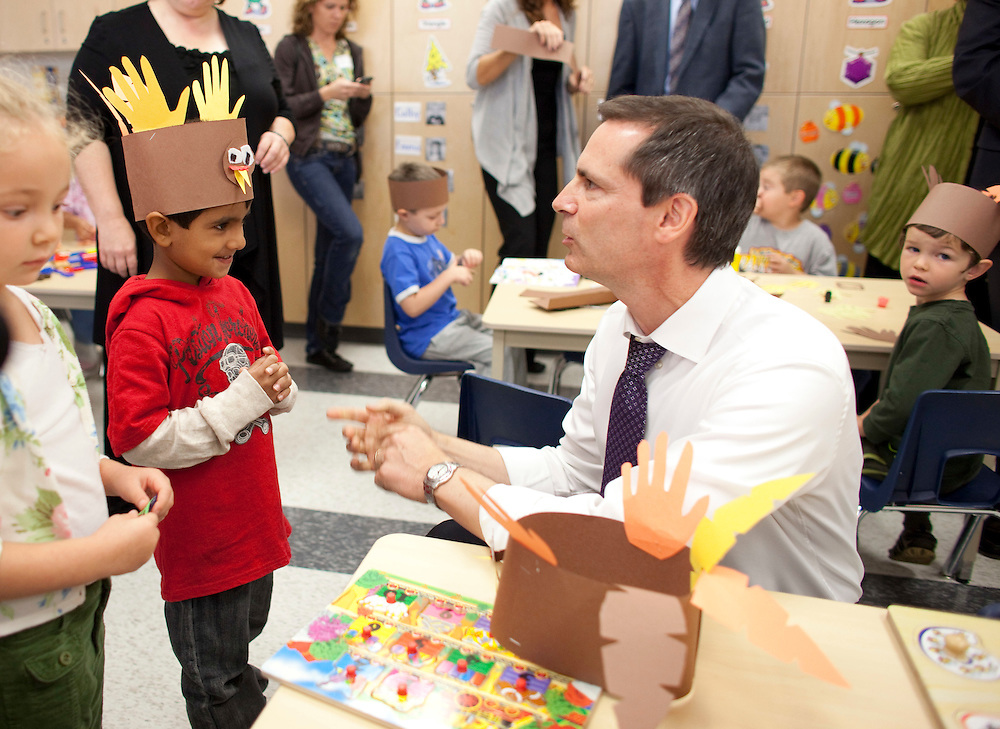 London, Ontario ---10-10-08---  Premier Dalton McGuinty at Stoney Creek Public School in London, Ontario, October 8, 2010.<br /> GEOFF ROBINS The Globe and Mail