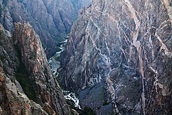 The Painted Wall and the Gunnison River. Black Canyon of the Gunnison National Park, Colorado.