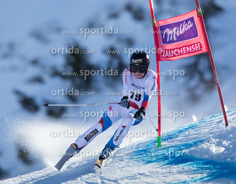 11.01.2014, Kalberloch, Zauchensee, AUT, FIS Ski Weltcup, Abfahrt, Damen, Bewerb, im Bild Lara Gut (SUI) // Lara Gut of Switzerland in action during ladies downhill of the Altenmarkt Zauchnesee FIS Ski Alpine World Cup at the Kaelberloch course in Zauchensee, Austria on 2014/01/11. EXPA Pictures © 2014, PhotoCredit: EXPA/ Johann Groder