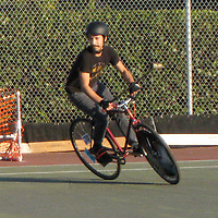 Bike Polo tournament participants in Fort Myers, Florida.